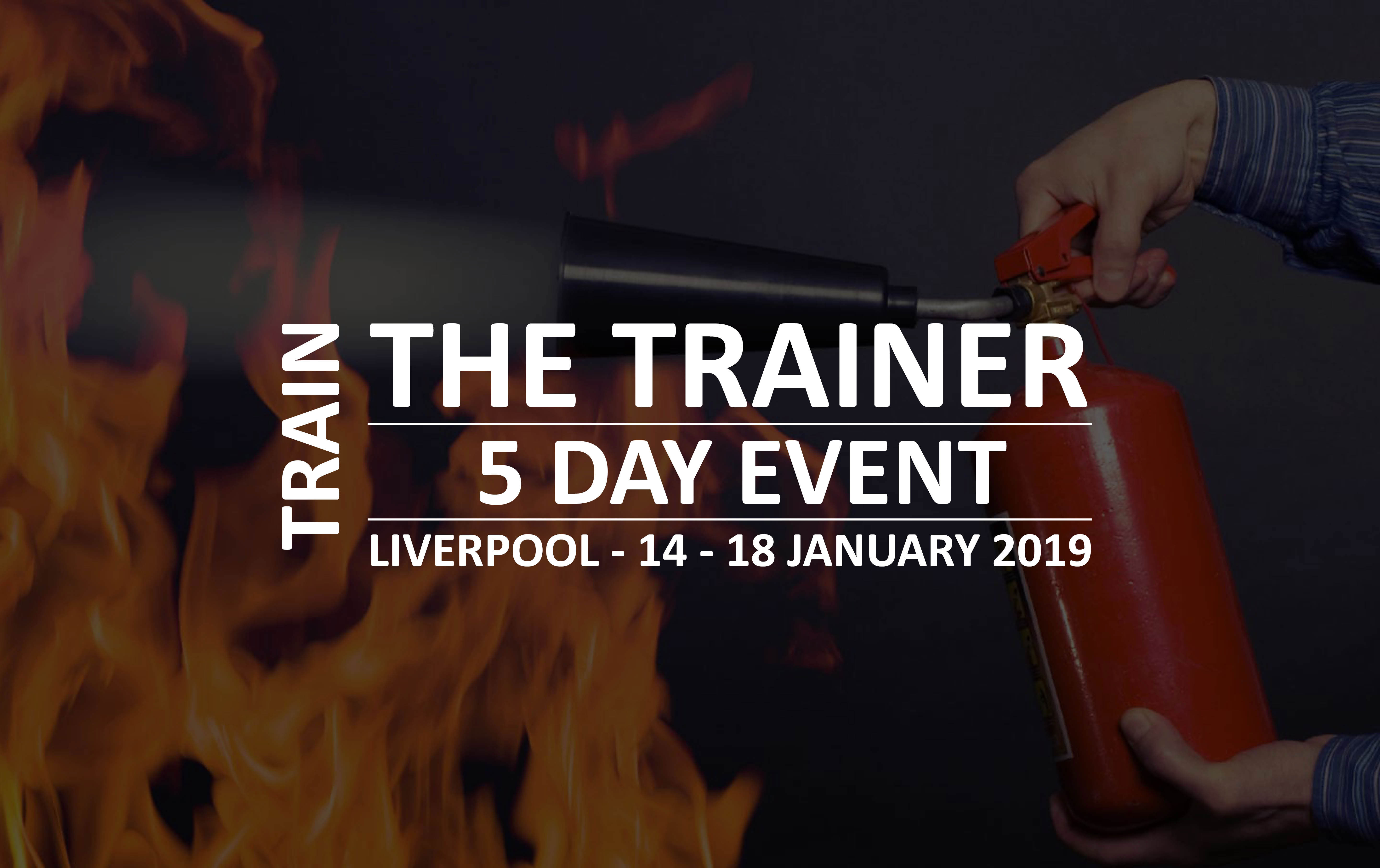 5 Day Train the Trainer Event in Liverpool (14th - 18th January 2019)